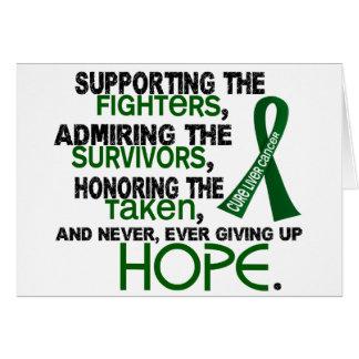 Admiración favorable honrando al cáncer de hígado  tarjeta de felicitación