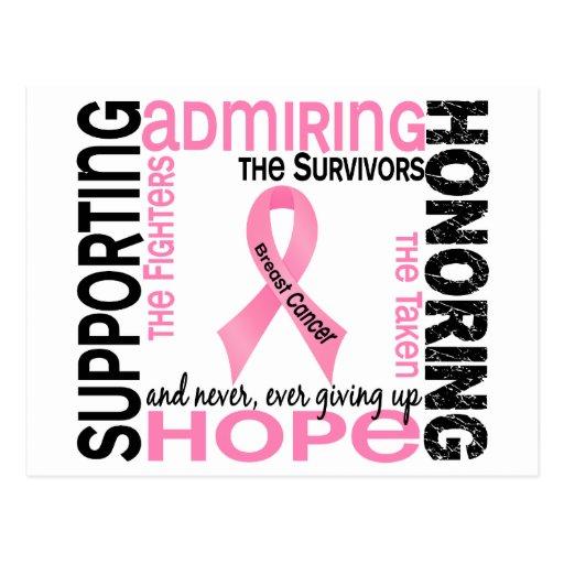 Admiración favorable honrando al cáncer de pecho 9 tarjeta postal