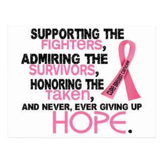 Admiración favorable honrando al cáncer de pecho postal