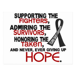 Admiración favorable honrando al cáncer de piel postal