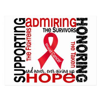 Admiración favorable honrando al cáncer de sangre postal