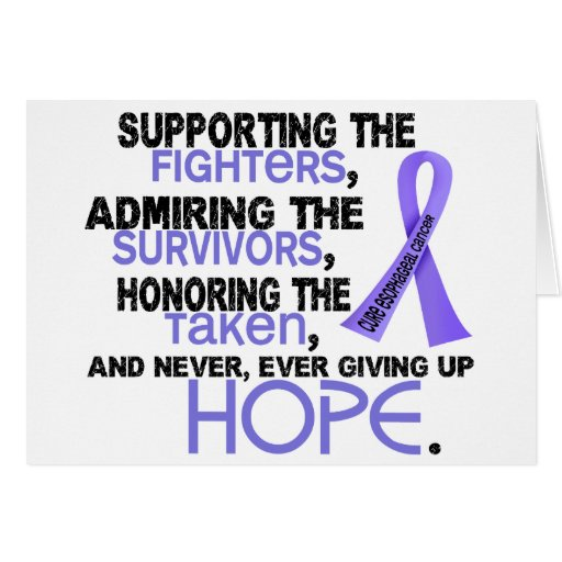Admiración favorable honrando al cáncer del esófag tarjetas