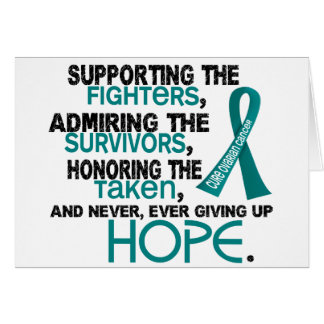 Admiración favorable honrando al cáncer ovárico 3, tarjeta de felicitación