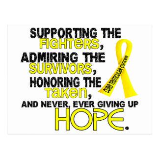 Admiración favorable honrando al cáncer testicular postal
