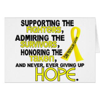 Admiración favorable honrando al cáncer testicular tarjetas