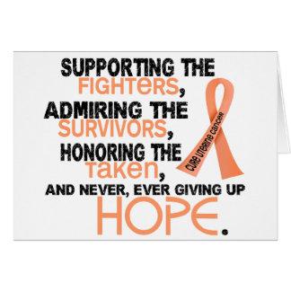 Admiración favorable honrando al cáncer uterino 3, tarjeta de felicitación