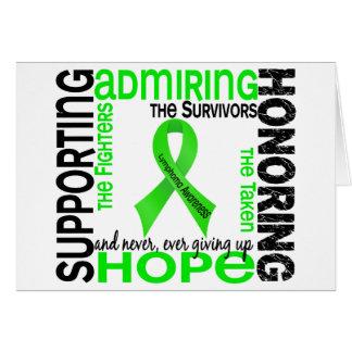 Admiración favorable honrando el linfoma 9 tarjeta