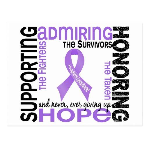 Admiración favorable honrando el linfoma de 9 Hodg Tarjeta Postal