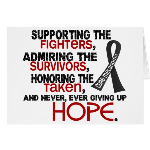 Admiración favorable honrando el melanoma 3,2 tarjetón