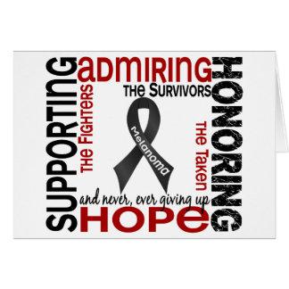 Admiración favorable honrando el melanoma 9 felicitación