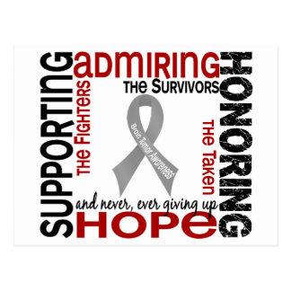 Admiración favorable honrando el tumor cerebral 9 postal