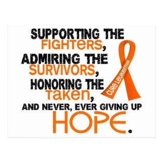Admiración favorable honrando la leucemia 3,2 postal