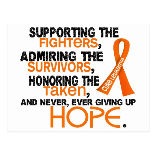Admiración favorable honrando la leucemia 3,2 tarjeta postal