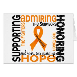 Admiración favorable honrando la leucemia 9 felicitación