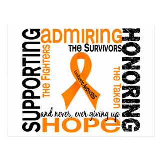 Admiración favorable honrando la leucemia 9 postal