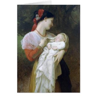 Admiración maternal de Guillermo Adolfo Bouguereau Tarjeta De Felicitación