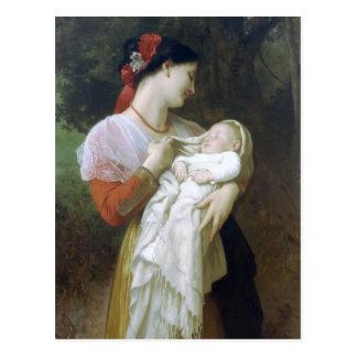 Admiración maternal de Guillermo Adolfo Bouguereau Postal