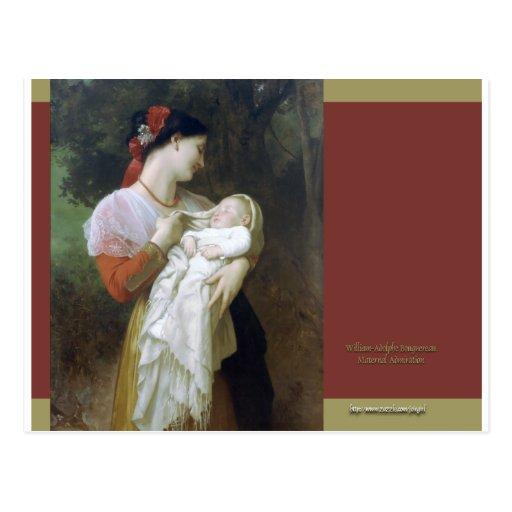 Admiración maternal postal