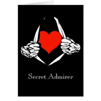 Admirador secreto tarjeta de felicitación