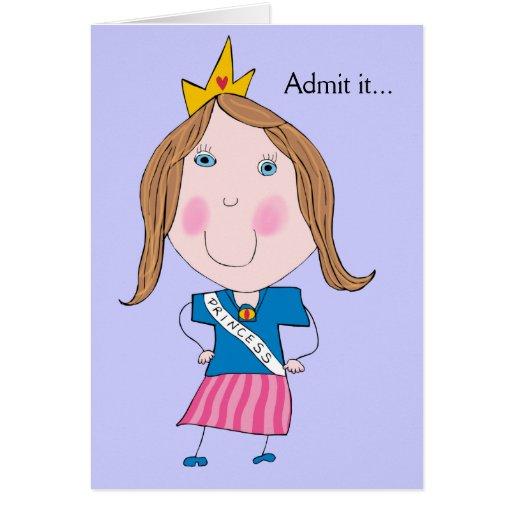 Admítalo… Usted Srta. la tarjeta de felicitación d