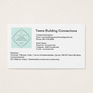 Adolescencias que construyen tarjetas de visita de