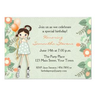 Adolescente de moda, cumpleaños invitación 12,7 x 17,8 cm
