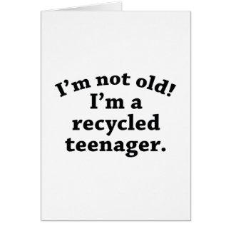 Adolescente reciclado tarjeta de felicitación