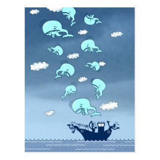 ¿Adónde las ballenas han ido? Postal