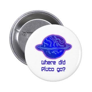 ¿Adónde Plutón fue? Chapa Redonda De 5 Cm