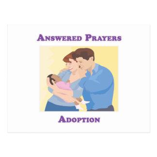 Adopción contestada de los rezos postales