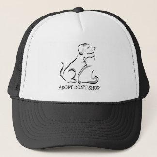 Adopt no hace compras gorra del camionero del gato