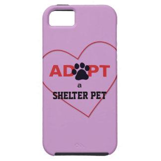 Adopte a un mascota del refugio iPhone 5 Case-Mate cárcasa