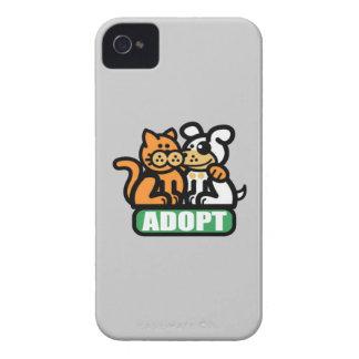 ADOPTE A UN MASCOTA iPhone 4 FUNDA