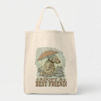 Adopte a un mejor amigo por los estudios de Mudge Bolsa Tela Para La Compra