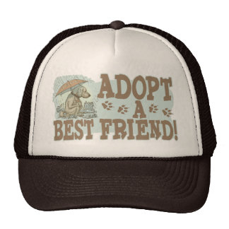 Adopte a un mejor amigo por los estudios de Mudge Gorros Bordados