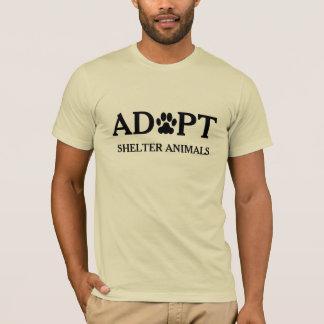 """""""Adopte camiseta de los animales del refugio"""""""