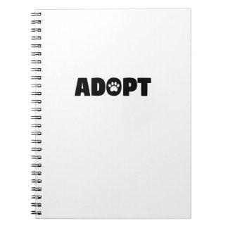 Adopte el cuaderno espiral de la impresión de la
