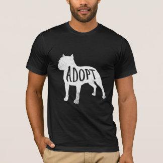 Adopte la camisa de la silueta del pitbull