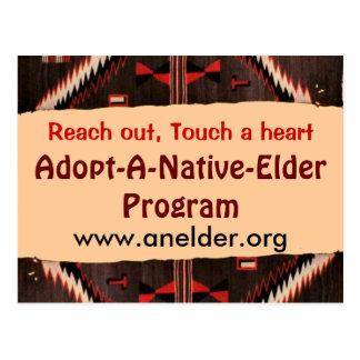 adopte una postal nativa de la anciano