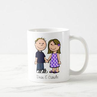 Adorable él y ella taza de café