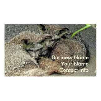 Adorable en zorros del amor tarjetas de visita