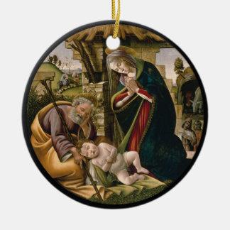 Adoración con José, Maria y el bebé Jesús Adorno De Cerámica