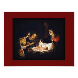 Adoración de Child Adorazion del Bambino Invitación 10,8 X 13,9 Cm