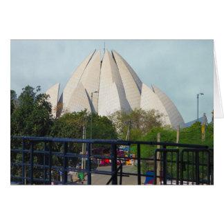 Adoración de la casa de Nueva Deli la India Bahá'í Tarjeta De Felicitación
