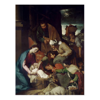 Adoración de los pastores, 1630 postal