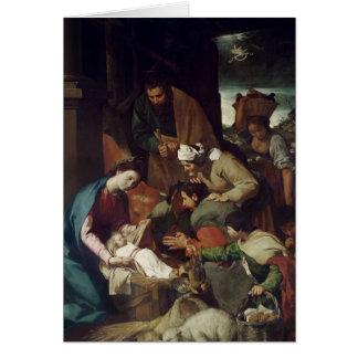 Adoración de los pastores, 1630 tarjeta