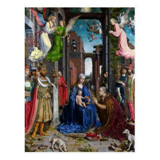 Adoración de reyes por Murillo Tarjeta Postal