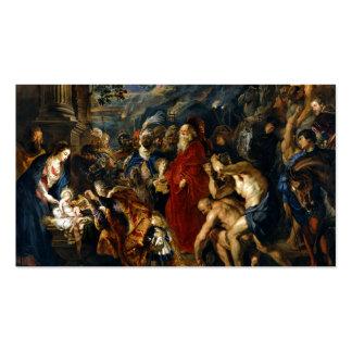 Adoración de unos de los reyes magos de Rubens Tarjetas De Visita