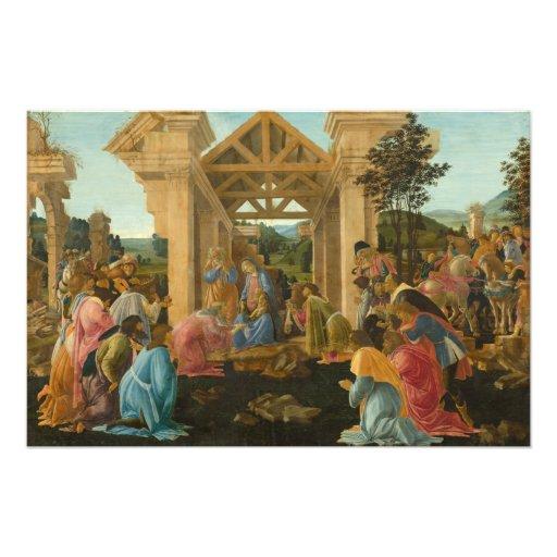 Adoración de unos de los reyes magos por Botticell Fotografía