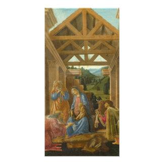 Adoración de unos de los reyes magos por Botticell Tarjetas Fotograficas